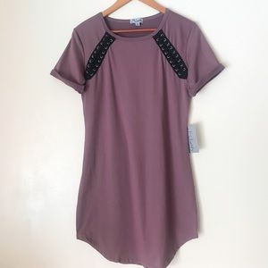 Rose Fitted Jersey T-shirt Dress